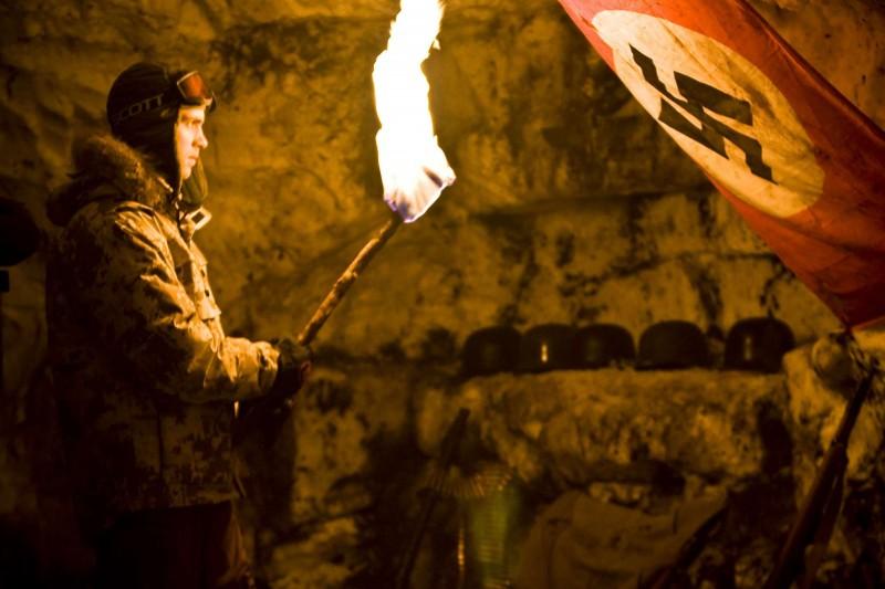 Lasse Valdal in un'immagine del film horror Dead Snow