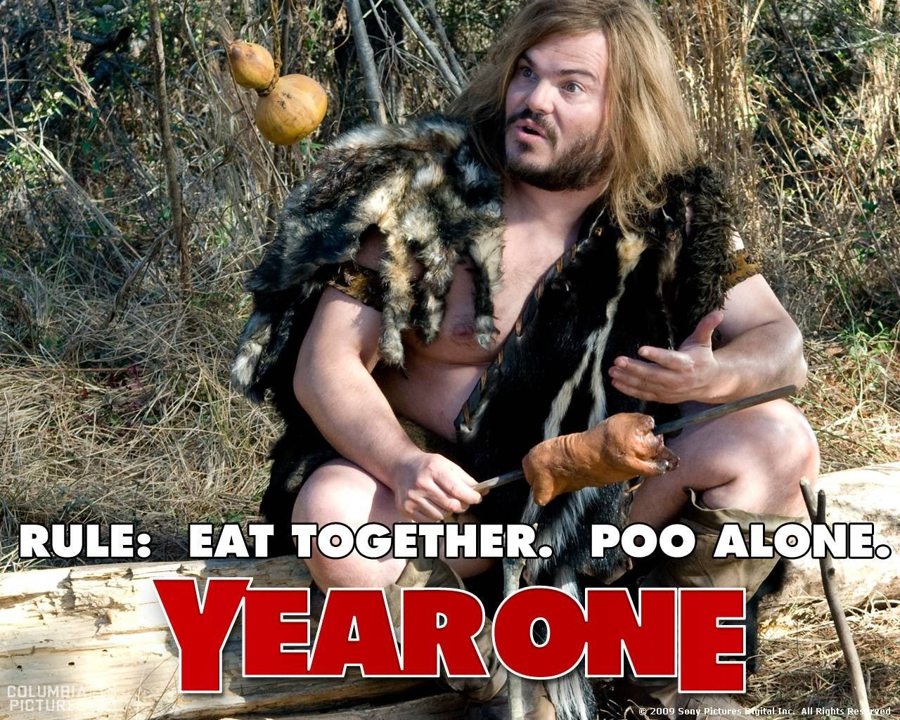 Un wallpaper del film Year One con Jack Black