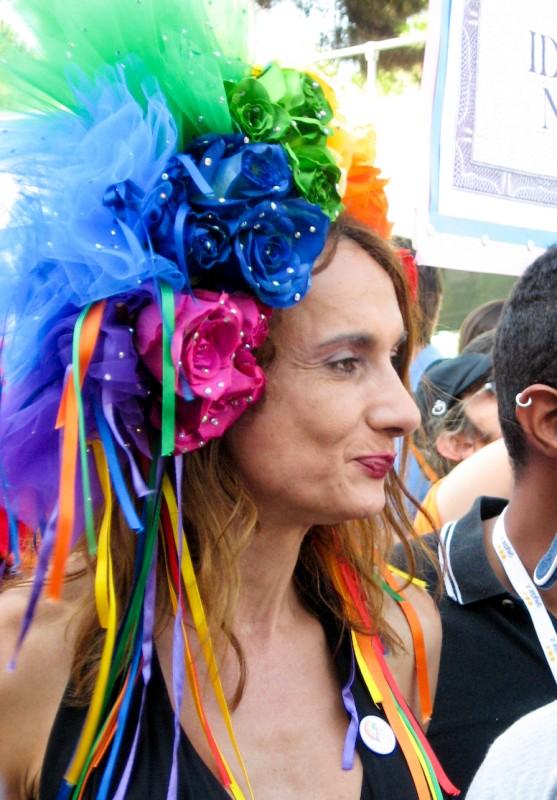 Vladimir Luxuria al Gay Pride di Roma nel 2009