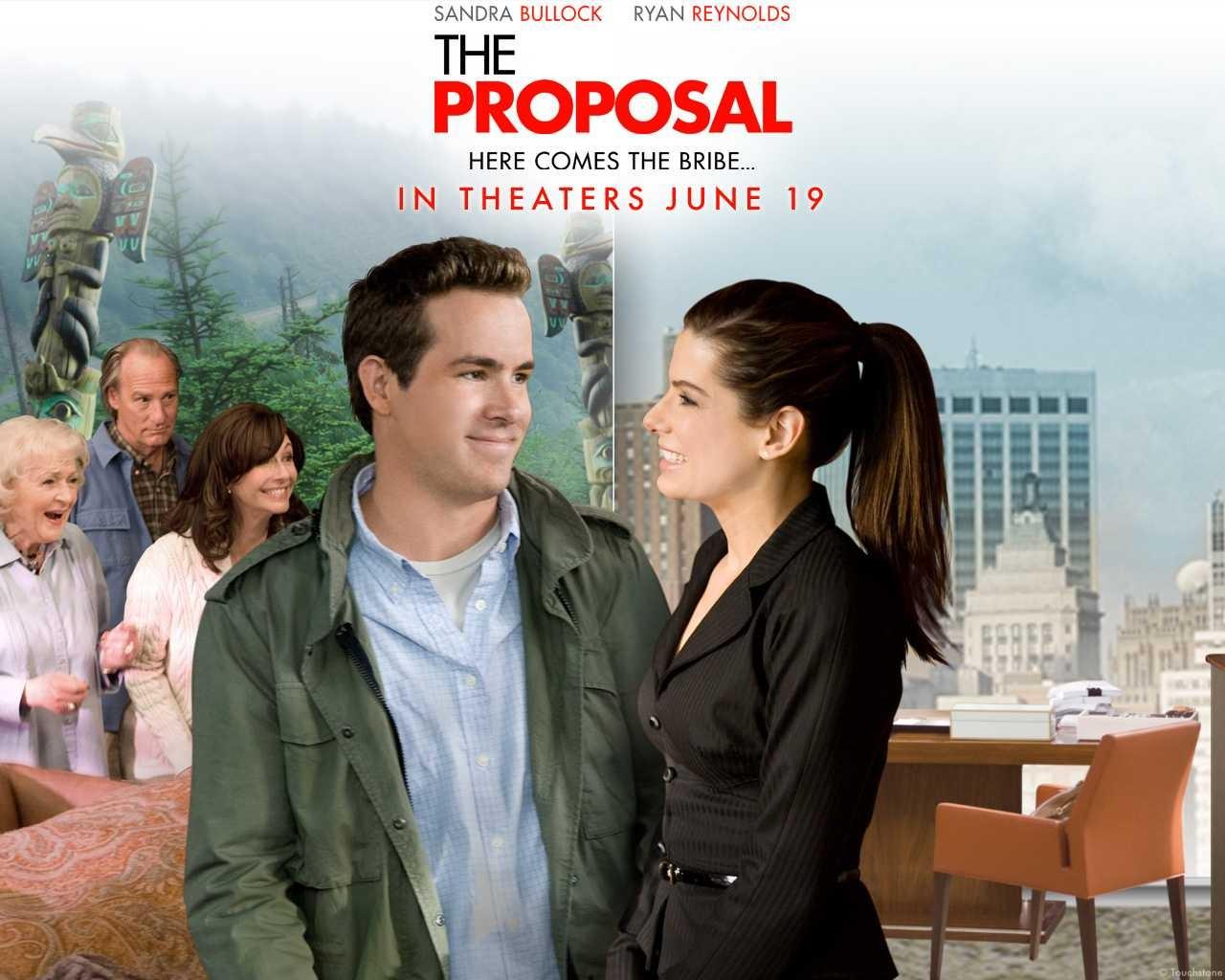 Wallpaper della commedia Ricatto d'amore con Ryan Reynolds e Sandra Bullock