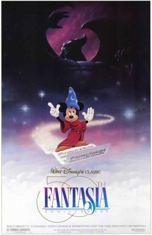 Manifesto celebrativo per i cinquanta anni del film Fantasia