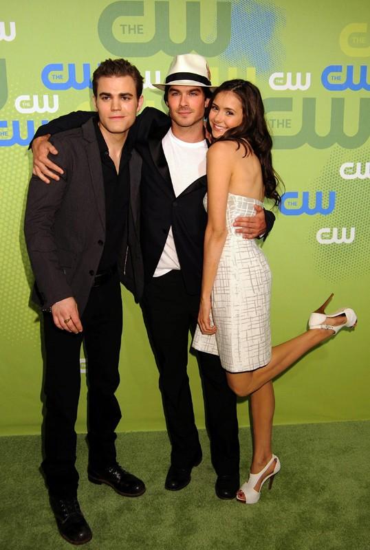 Paul Wesley, Ian Somerhalder e Nina Dobrev al CW Network UpFront Party, per promuovere The Vampire Diaries, a Maggio 2009