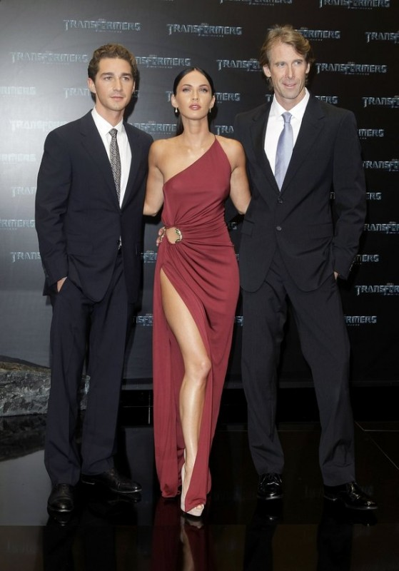 Shia LaBeouf, Megan Fox e Michael Bay alla premiere del film 'Transformers: Revenge of the Fallen', in Germania, nel 2009