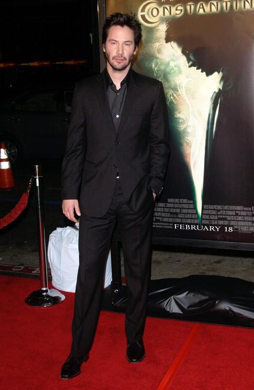 Keanu Reeves alla premiere del film Constantine