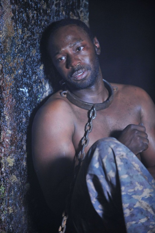 Nelsan Ellis in una scena dell'episodio 'Nothing But The Blood' della seconda stagione della serie tv True Blood
