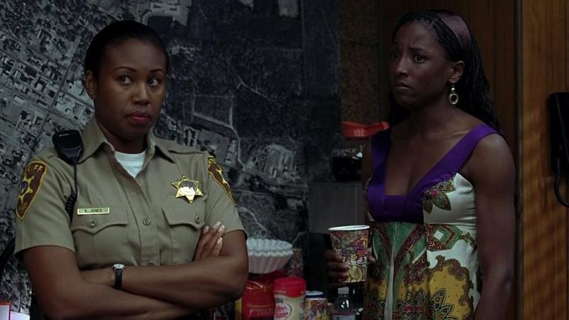 Rutina Wesley in una scena dell'episodio 'Nothing But The Blood' della seconda stagione della serie True Blood