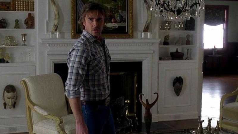 Sam Trammell in una scena dell'episodio 'Nothing But The Blood' della seconda stagione della serie True Blood
