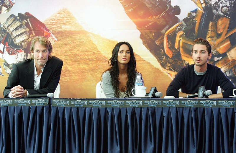 Shia LaBeouf, Megan Fox e Michael Bay alla 'Press Conference' per 'Transformers: la vendetta del caduto', in South Korea, il 10 Giugno 2009