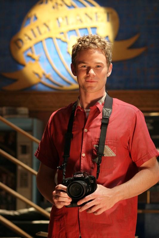 Una immagine promozionale di Aaron Ashmore (Jimmy Olsen) per la serie Smallville