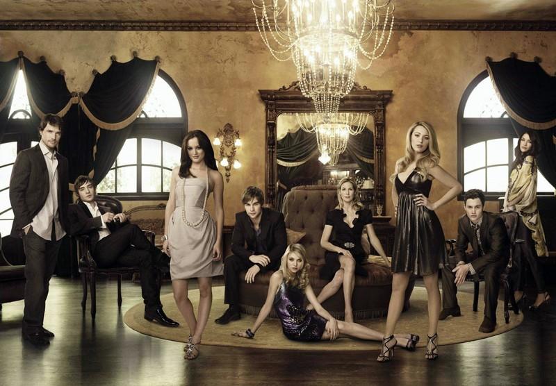 Il cast del telefilm Gossip Girl in un'immagine promo