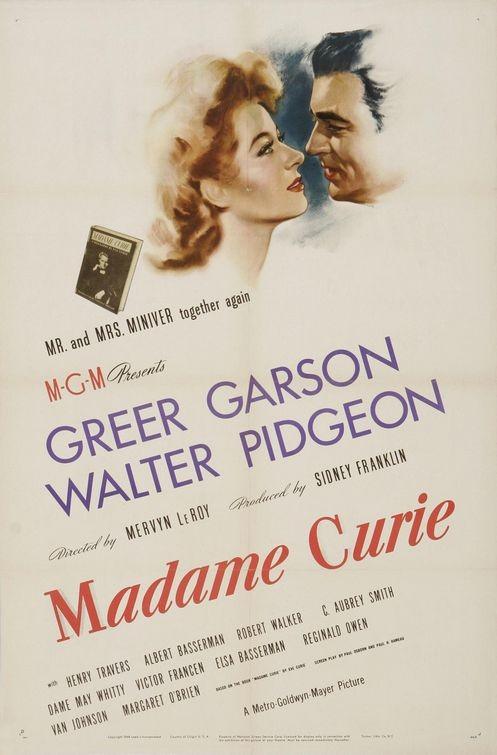 La locandina di Madame Curie