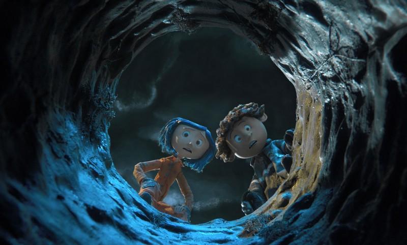 Una scena del film Coraline e la porta magica, diretto da Henry Selick