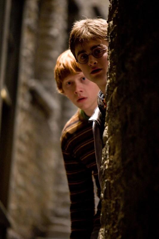 Rupert Grint e Daniel Radcliffe in una scena di Harry Potter e il principe mezzosangue