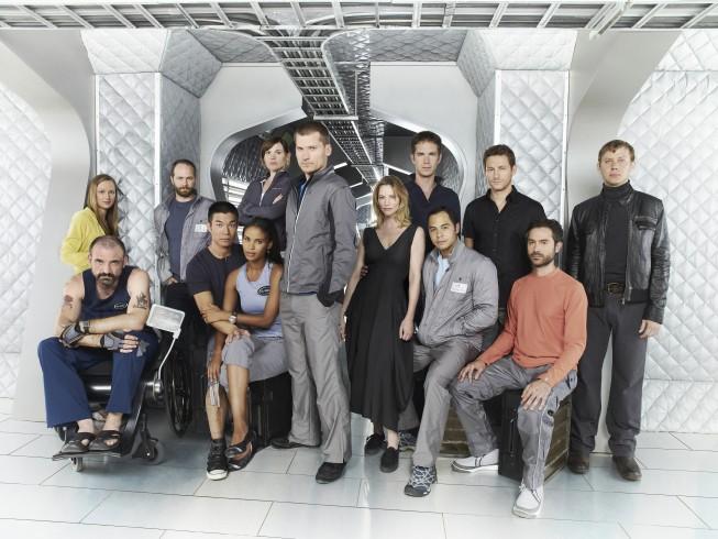 Una foto promozionale dei protagonisti del film tv Virtuality