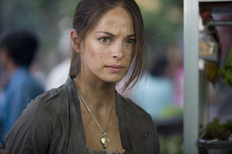Un primo piano di Kristin Kreuk dal film Street Fighter: The Legend of Chun-Li