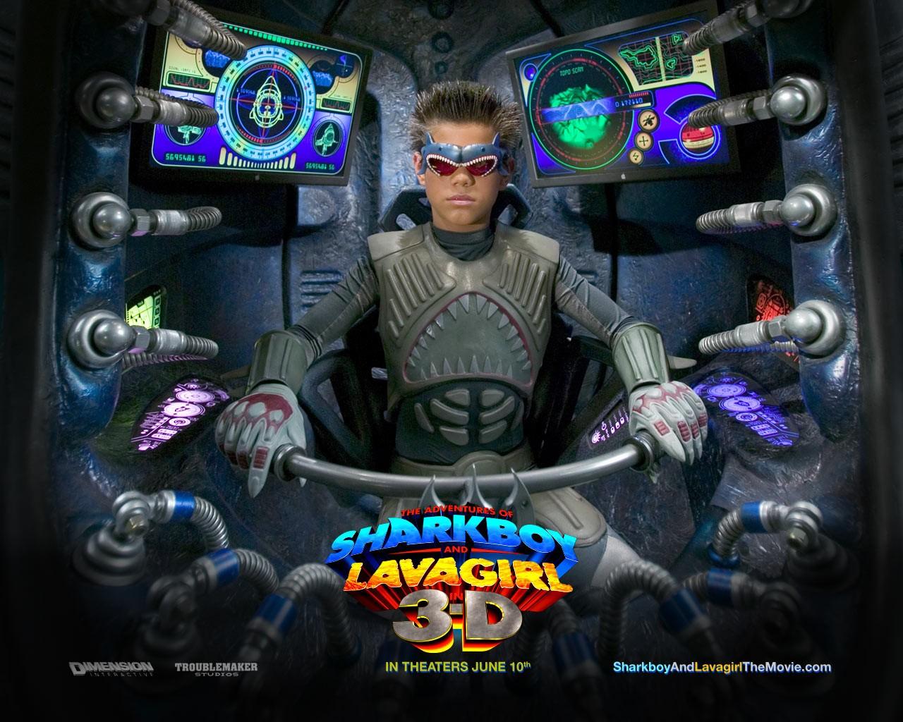 Un wallpaper del film The Adventures of Shark Boy & Lava Girl in 3-D, con Taylor Lautner