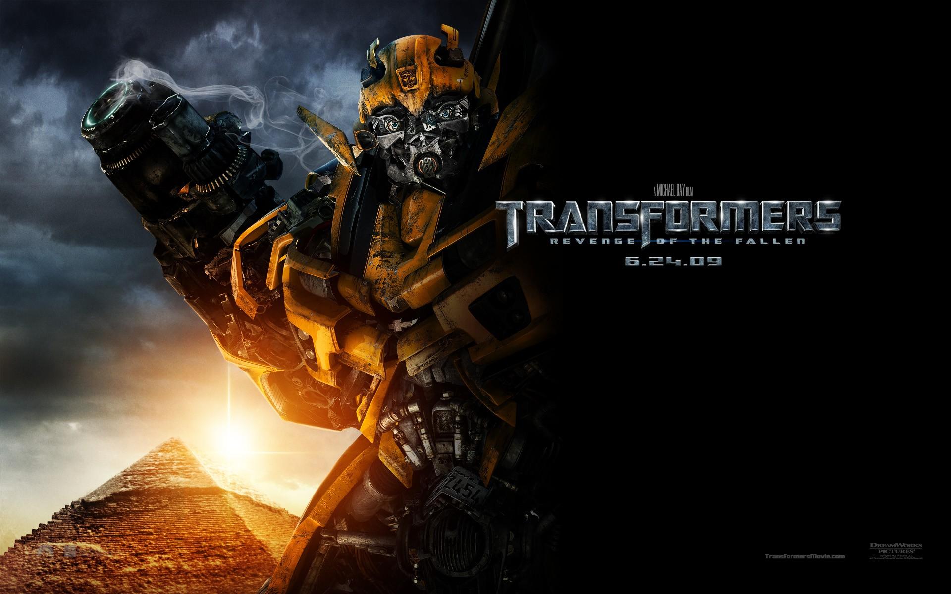 Un wallpaper del film Transformers - La vendetta del caduto, con Bumblebee