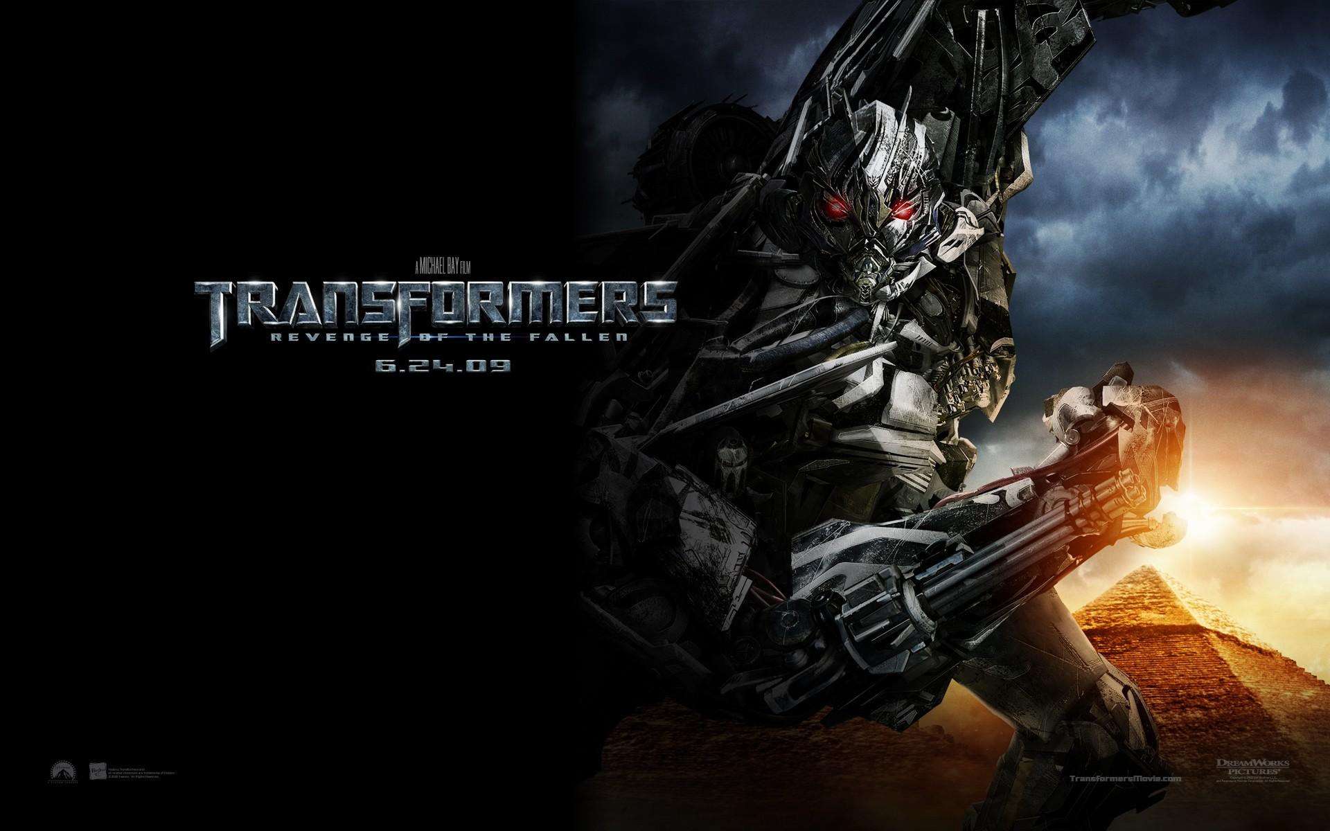 Un wallpaper del film Transformers - La vendetta del caduto, con Megatron