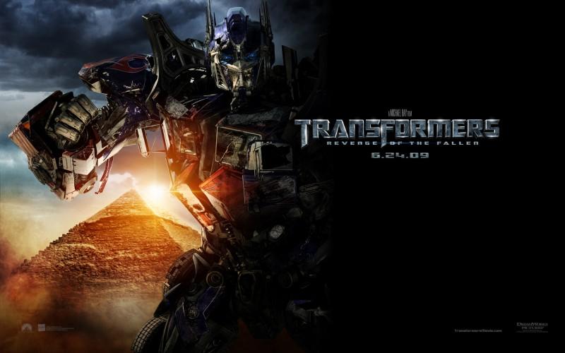 Un wallpaper del film Transformers - La vendetta del caduto, con Optimus Prime