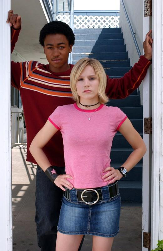Kristen Bell assieme a Percy Daggs III per la stagione 1 della serie Veronica Mars