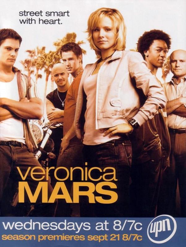 Un poster pubblicitario per la 1 stagione del telefilm Veronica Mars