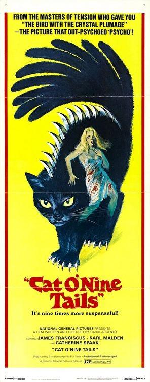 La locandina di Il gatto a nove code