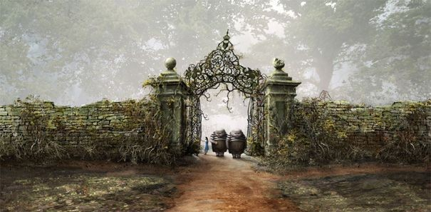 Una scena di Alice in Wonderland, adattamento del racconto di Lewis Carroll diretto da Tim Burton