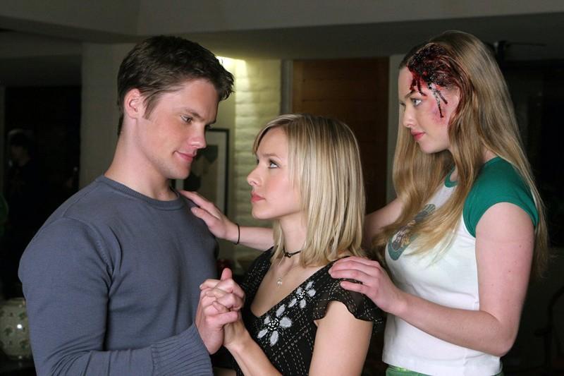 Teddy Dunn, Kristen Bell e Amanda Seyfried per l'episodio 'Il mistero dei Kane' di Veronica Mars
