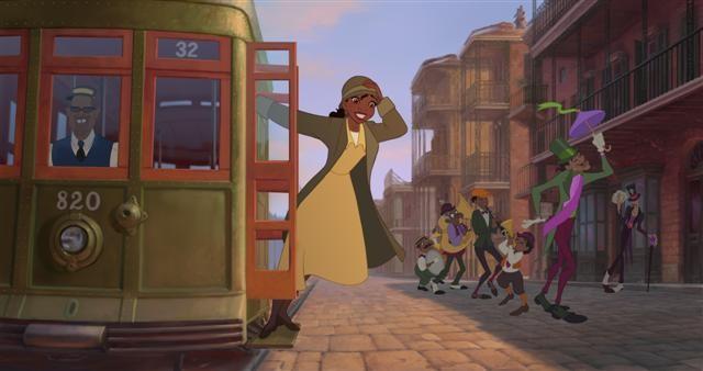 Una scena del film La principessa il ranocchio
