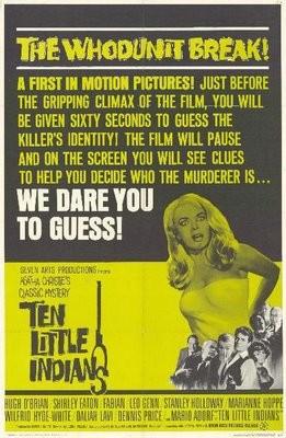 Locandina americana del 1965 del film Dieci piccoli indiani