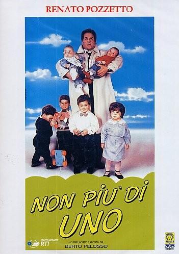 Locandina del film Non più di uno (1990) con Renato Pozzetto