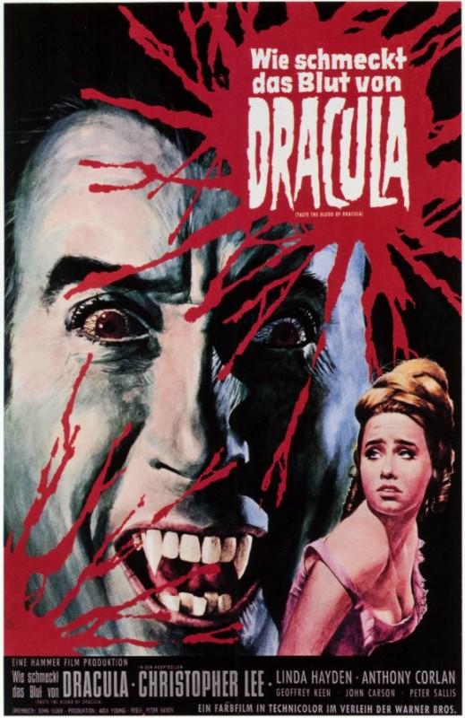 Locandina tedesca del film Una messa per Dracula
