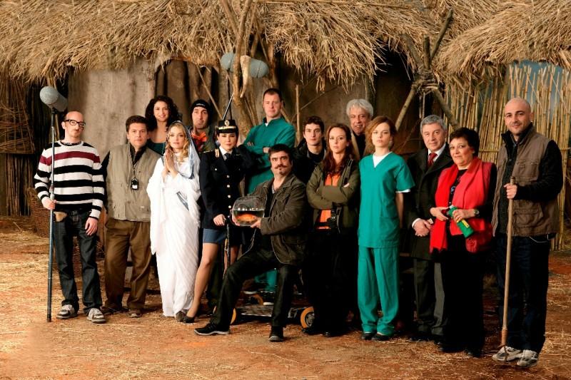 Una foto promozionale del cast della serie Boris
