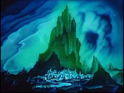 Una veduta del Monte Calvo nel film Fantasia