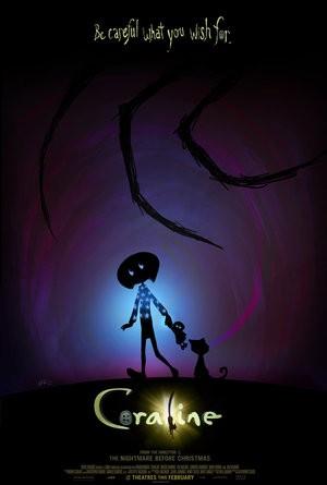 Locandina americana del film Coraline e la porta magica