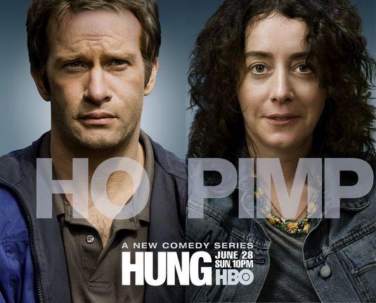 Un poster con sviluppo orizzontale di Hung
