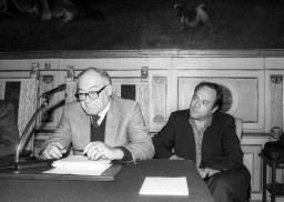 Carlo Verdone con suo padre Mario, critico cinematografico, scomparso nel 2009