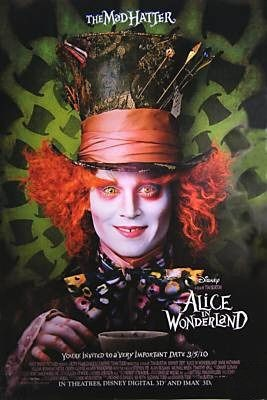 Character Poster per Alice in Wonderland - Johnny Depp è il Cappellaio Matto