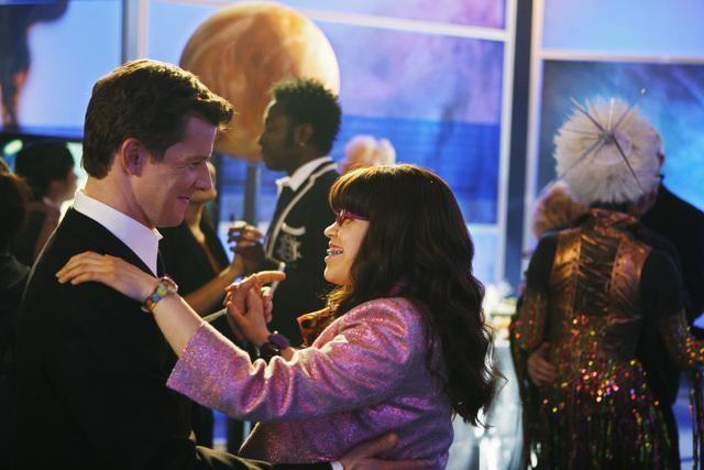 Eric Mabius ed America Ferrera in una scena dell'episodio In the Stars di Ugly Betty