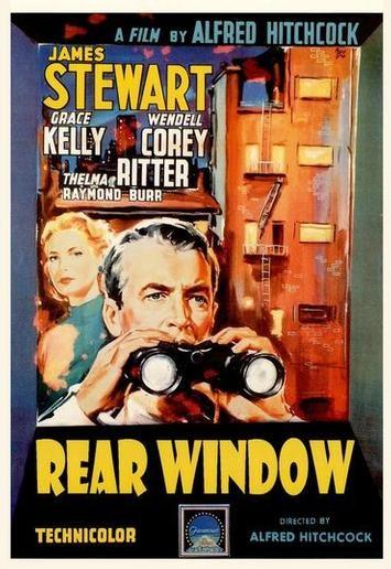 Locandina americana del 1954 del film La finestra sul cortile