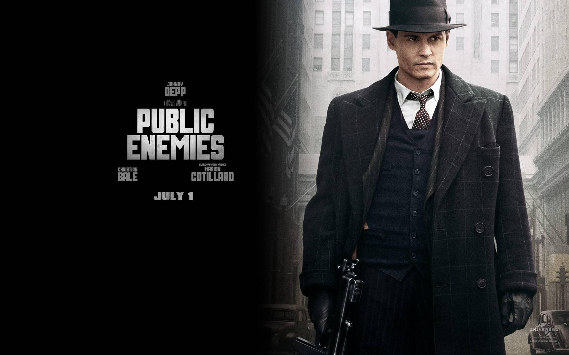 Un wallpaper del film Nemico pubblico con Johnny Depp