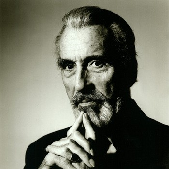 Una bella foto di Christopher Lee