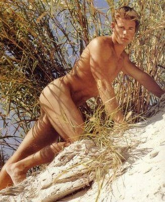 Una foto del modello e attore Trevor Donovan nudo