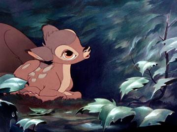 Una scena del film d\'animazione Bambi
