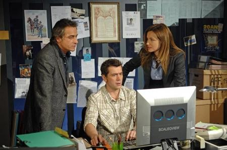 La Delterme con Tinivelli e Baquet nella serie tv Alice Nevers: professione giudice
