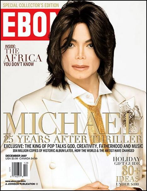 Michael Jackson, una copertina bianca sul magazine della comunità nera Ebony