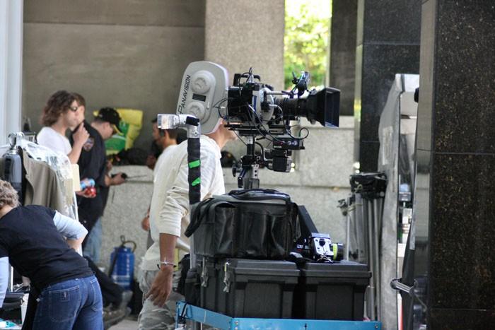 Un momento delle riprese della stagione 2 di Fringe
