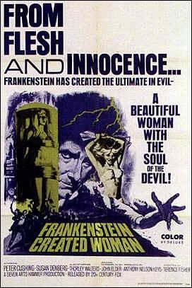 Locandina inglese del film La maledizione di Frankenstein