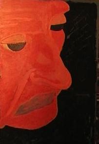 Autoritratto realizzato da Antonio Di Ciesco ( acrilico su tavola)