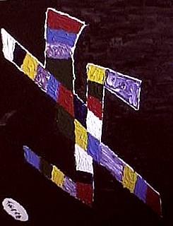 Un\'opera  pittorica (acrilico su tela) di Antonio Di Ciesco